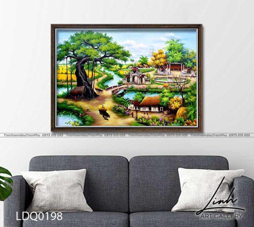 tranh lang que 198 510x457 - Tranh Làng Quê - LDQ0198
