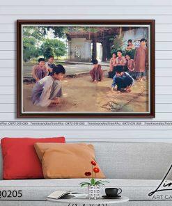 tranh lang que 205 247x296 - Tranh Làng Quê - LDQ0205