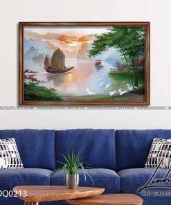 tranh lang que 213 247x296 - Tranh Làng Quê - LDQ0213