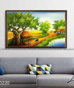tranh lang que 220 247x296 - Tranh Làng Quê - LDQ0220