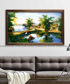 tranh lang que 235 247x296 - Tranh Làng Quê - LDQ0235