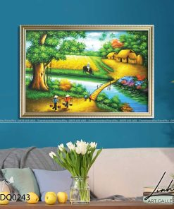 tranh lang que 243 247x296 - Tranh Làng Quê - LDQ0243