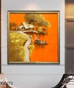 tranh lang que 272 247x296 - Tranh Làng Quê - LDQ0272