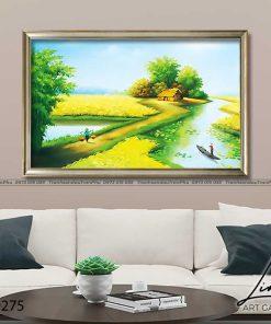 tranh lang que 275 247x296 - Tranh Làng Quê - LDQ0275