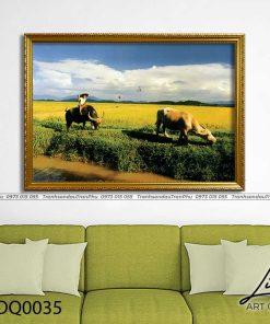 tranh lang que 35 247x296 - Tranh Làng Quê - LDQ0035