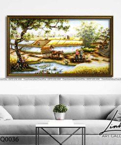 tranh lang que 36 247x296 - Tranh Làng Quê - LDQ0036