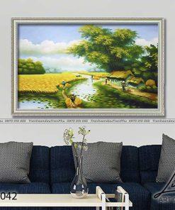 tranh lang que 42 247x296 - Tranh Làng Quê - LDQ0042