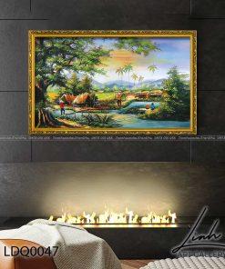 tranh lang que 47 247x296 - Tranh Làng Quê - LDQ0047