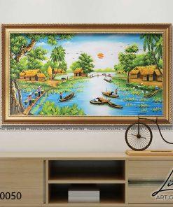 tranh lang que 50 247x296 - Tranh Làng Quê - LDQ0050