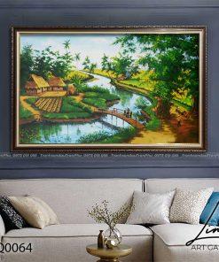 tranh lang que 64 247x296 - Tranh Làng Quê - LDQ0064