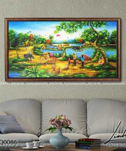 tranh lang que 86 247x296 - Tranh Làng Quê - LDQ0086