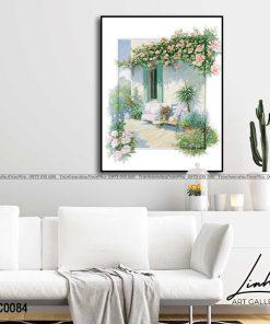 tranh vuon hoa 55 247x296 - Tranh Vườn Hoa - OPC0084