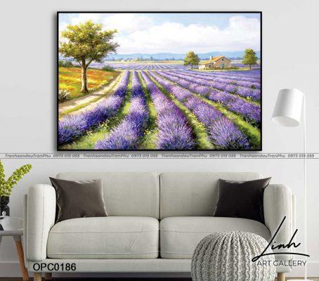 tranh vuon hoa 58 454x400 - Tranh Vườn Hoa - OPC0140