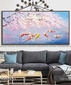 tranh ca chep hoa dao 6 247x296 - Tranh Cá Chép Hoa Đào - LCC0440