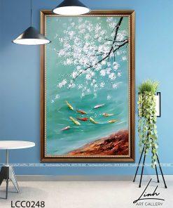 tranh ca chep hoa mai 1 247x296 - Tranh Cá Chép Hoa Mai - LCC0248
