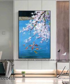 tranh ca chep hoa mai 3 247x296 - Tranh Cá Chép Hoa Mai - LCC0436