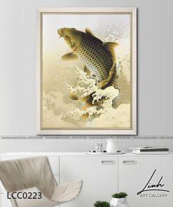 tranh ca chep hoa rong 1 247x296 - Cá Chép Hóa Rồng - LCC0223