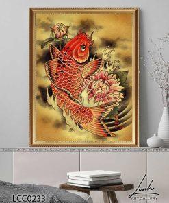 tranh ca chep hoa rong 2 247x296 - Cá Chép Hóa Rồng - LCC0233
