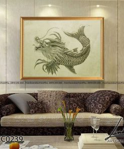 tranh ca chep hoa rong 3 247x296 - Cá Chép Hóa Rồng - LCC0239