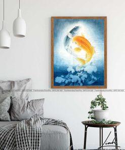tranh ca chep hoa rong 4 247x296 - Cá Chép Hóa Rồng - LCC0240