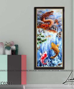tranh ca chep hoa rong 5 247x296 - Cá Chép Hóa Rồng - LCC0241