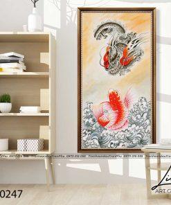 tranh ca chep hoa rong 6 247x296 - Cá Chép Hóa Rồng - LCC0247