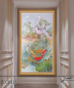 tranh ca chep hoa sen 39 247x296 - Tranh Cá Chép Hoa Sen - LCC0325
