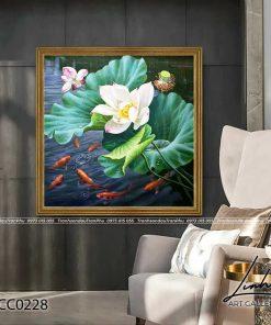 tranh ca chep hoa sen 9 247x296 - Tranh Cá Chép Hoa Sen - LCC0228