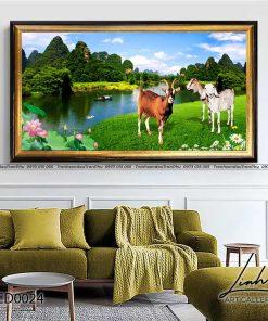 tranh con de 24 247x296 - Tranh Con Dê - LCD0024