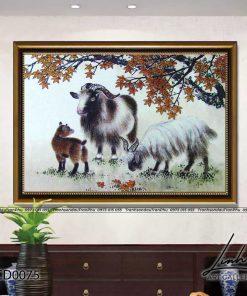 tranh con de 75 247x296 - Tranh Con Dê - LCD0075