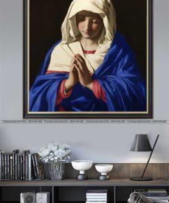 tranh duc me maria 1 247x296 - Tranh Đức Mẹ Maria - LCG0012