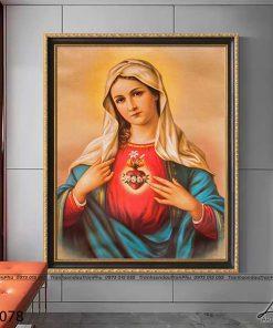 tranh duc me maria 8 247x296 - Tranh Đức Mẹ Maria - LCG0078