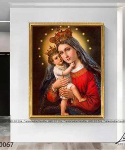 tranh duc me va chua giesu 11 247x296 - Tranh Đức Mẹ Và Chúa Giêsu - LCG0067