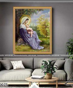tranh duc me va chua giesu 12 247x296 - Tranh Đức Mẹ Và Chúa Giêsu - LCG0075