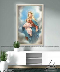 tranh duc me va chua giesu 18 247x296 - Tranh Đức Mẹ Và Chúa Giêsu - LCG0109