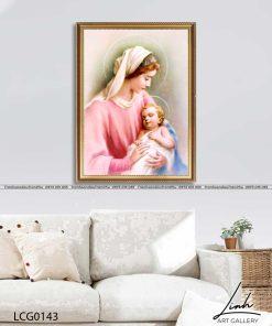 tranh duc me va chua giesu 24 247x296 - Tranh Đức Mẹ Và Chúa Giêsu - LCG0143