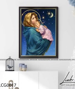 tranh duc me va chua giesu 4 247x296 - Tranh Đức Mẹ Và Chúa Giêsu - LCG0017
