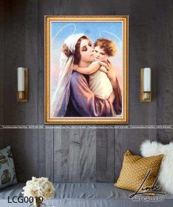 tranh duc me va chua giesu 6 247x296 - Tranh Đức Mẹ Và Chúa Giêsu - LCG0019