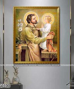 tranh thanh giuse3 247x296 - Tranh Thánh Giuse - LCG0100