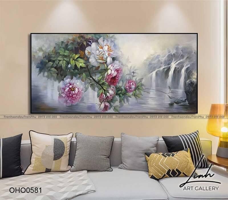 tranh trang tri phong khach 4 - Tổng hợp các mẫu tranh trang trí phòng khách được yêu thích nhất hiện nay