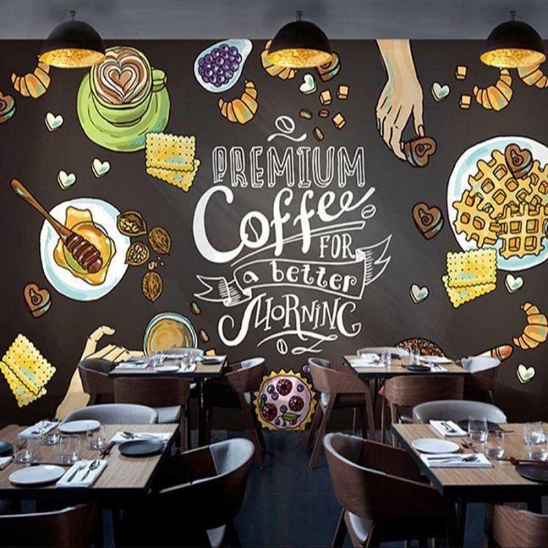 tranh tuong quan cafe 1 - Các mẫu tranh tường quán cafe đẹp, độc đáo nhất tại Linh Art