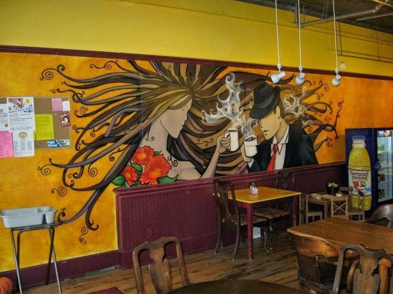 tranh tuong quan cafe 4 - Các mẫu tranh tường quán cafe đẹp, độc đáo nhất tại Linh Art