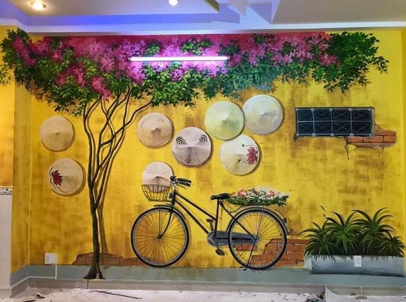 tranh tuong quan cafe 5 - Các mẫu tranh tường quán cafe đẹp, độc đáo nhất tại Linh Art