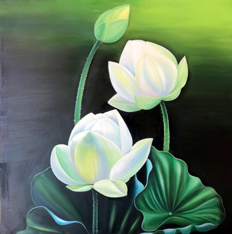 tranh ve hoa sen 2 795x800 - Những mẫu tranh vẽ hoa sen đẹp và ấn tượng nhất cho người xem