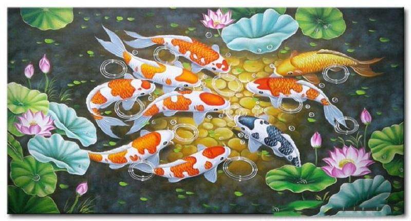 tranh ve hoa sen 5 - Những mẫu tranh vẽ hoa sen đẹp và ấn tượng nhất cho người xem