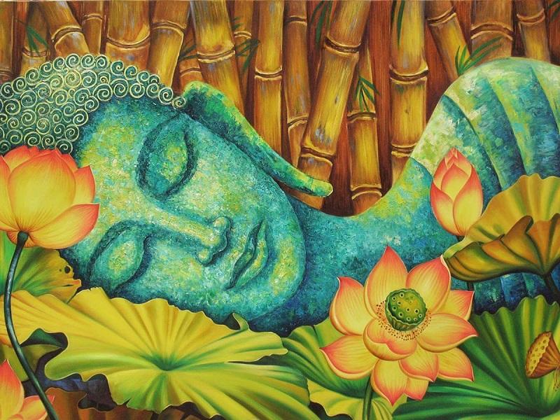 tranh ve hoa sen 6 - Những mẫu tranh vẽ hoa sen đẹp và ấn tượng nhất cho người xem