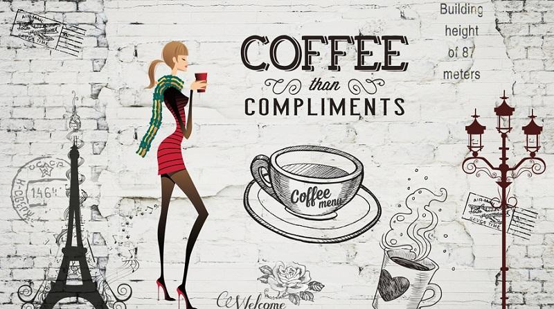 ve tranh tuong quan cafe 2 - Các mẫu vẽ tranh tường quán cafe chủ đề hot được yêu thích nhất