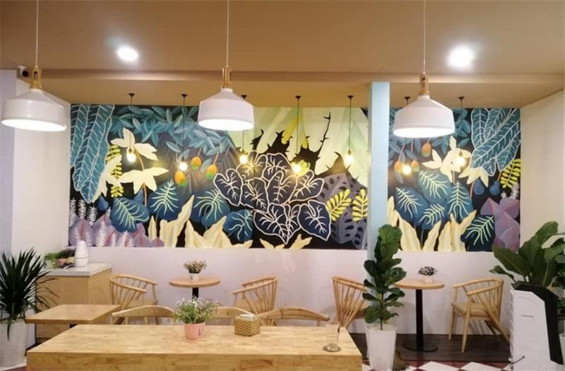 ve tranh tuong quan cafe 3 - Các mẫu vẽ tranh tường quán cafe chủ đề hot được yêu thích nhất