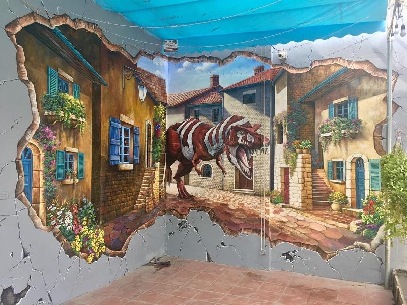 ve tranh tuong quan cafe 5 - Các mẫu vẽ tranh tường quán cafe chủ đề hot được yêu thích nhất