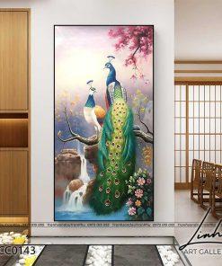 tranh chim cong 115 247x296 - Tranh Chim Công - LCC0143